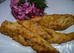 Filet z indyka smażony jako faworki Bacon, Breakfast, Food, Morning Coffee, Essen, Meals, Yemek, Pork Belly, Eten