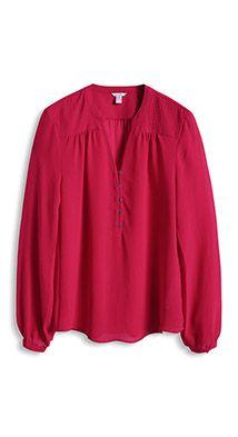 Fließende Georgette-Bluse mit Ziernähten