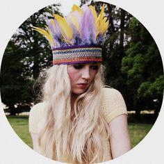 Multi-coloured feather crown/ headband. £28.00, via Etsy.