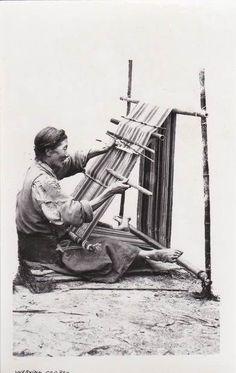Tibet China Weaver  postcard