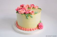 Pink Rose Cake by Juniper Cakery