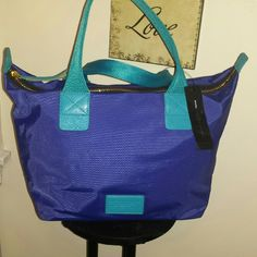 Marc By Marc Jacobs Dom Arigato tote 100 % Nylon Medium with detachable pouch. New with tags. 11.5X6.5X17 Royal Blue Turquoise trim. Marc by Marc Jacobs Bags Totes
