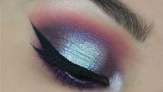 Makeup Geek Eyeshadows in Shimma Shimma and Pegasus + Makeup Geek Foiled Eyeshadow in Whimsical + Makeup Geek Sparkler in Solstice. Look by: Alexis Dosamantes