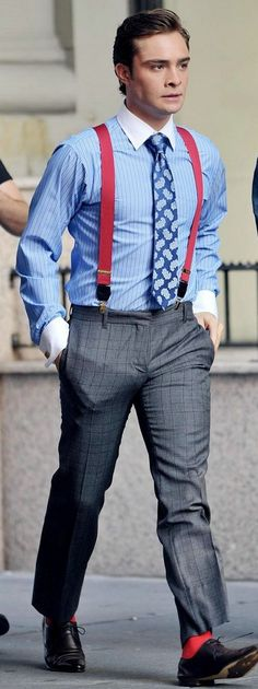 men's style fashion suspenders | ed-westwick-suspenders-gossip-girl-08
