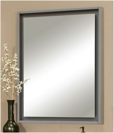 """Harper Vanity Collection Mirror with """"Floating"""" Mirror www.sagehilldesigns.com"""