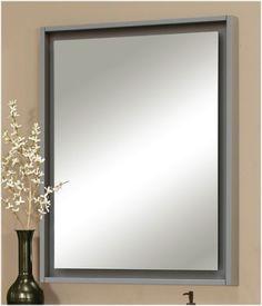 "Harper Vanity Collection Mirror with ""Floating"" Mirror www.sagehilldesigns.com | Sagehill Designs"