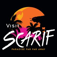 This Visit Scarif Star Wars t-shirt features a welcoming tribute to the remote tropical planet. Cool Graphic Tees, Graphic Tee Shirts, Star Wars Poster, Star Wars Art, Funny Hoodies, Funny Tshirts, Rogue One Star Wars, Star Wars Planets, Geek Shirts