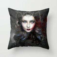 Delusive  God Throw Pillow by Alexandra V Bach - $20.00