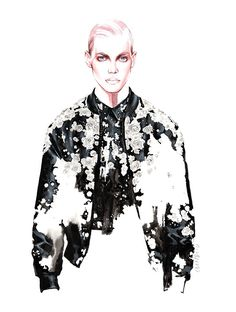 GIVENCHY ★★★★★ fashion illustration by António Soares