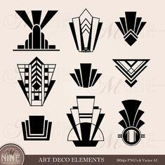 Motifs Art Nouveau, Motif Art Deco, Art Deco Pattern, Art Deco Design, Arte Art Deco, Estilo Art Deco, 1920s Art Deco, Colores Art Deco, Clipart