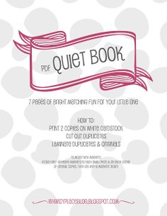 Free Quiet Pages to print  for your kids to use.