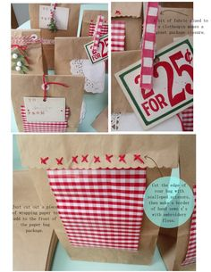 adorable brown bag gift wrap