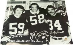 Jack Ham, Jack Lambert, Andy Russell Autographed Steelers 16x20 Photo - JSA COA | Steel City Collectibles