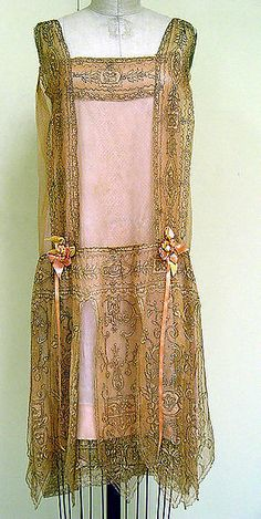 Evening dress / Evening dress Callot Soeurs (French, active 1895–1937) Date: ca. 1927 Culture: French Medium: silk, metal Dimensions: Length at CB: 33 in. (83.8 cm) Credit Line: Isabel Shults Fund, 1993