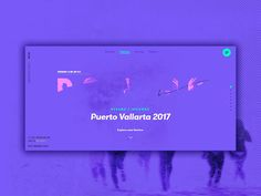 Portada Destino designed by Iván Soria for WELOVECORNER. Connect with them on Dribbble; Learn Web Design, Design Ios, Page Design, Banner Design Inspiration, Web Inspiration, Gui Interface, Interface Design, Ui Kit, Website Design Layout