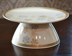 DIY Cake/Cookie Plates by Gluing a Plate and Bowl Together {The Creativity Exchange} - gotta watch those after Christmas sales!