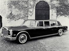 Mercedes Benz 600 Pullman: This is a serious car for serious people. Hydraulic window lifts, power door closers, and hydraulic trunk opening/closing to name a few amenities