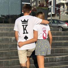 #citation #citationdujour #citationamitié #citationcouple #citationamour #citations #amour #couple #couplecute #penseedujour #citationmignon #couple #complicité Cute Couple Shirts, Matching Couple Shirts, Matching Couples, Cute Couples, Pyjamas, Custom Clothes, Custom Shirts, T-shirt Couple, King Queen Shirts