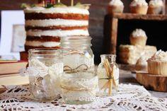 twine and doily wrapped around a jar