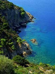 Blue & green Thassos island Greece