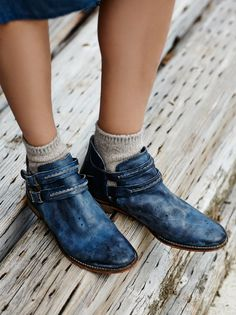 Braeburn Ankle Boot | Rugged leather ankle boots with cool open sides. Double ankle straps adjustable, with brass buckles.