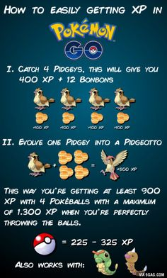 Lucky eggs double your XP. The 4 Pokémon can then be used to get another 4 Bonbons for the next evolution.