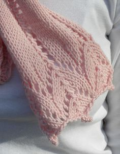 Breast cancer awareness scarf pattern