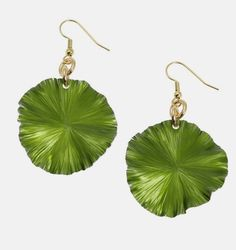 Spectacular 2017 Pantone Color of the Year Greenery Earrings Highlighted by #Etsy #Jewelry #Handmade #Style https://www.etsy.com/listing/168868871