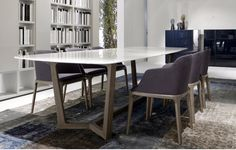 Concorde table by Poliform  So classy !