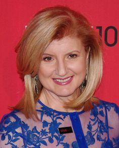 Huffington Post creator Arianna Huffington. Her news blog launched in 2005 is one of the most popular sites of its kind online! ~H.E.S.