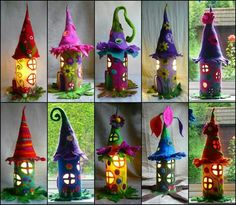 Witch fairy houses