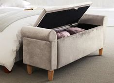 ottoman footstool chesterfield deep buttoned storage | dt project