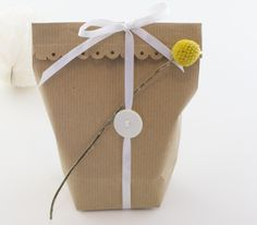 DIY - Gift bags for little gifts by Sostrene Grene. Click at the picture for tutorial.