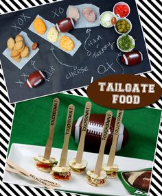 Tailgate Food: Football Sandwich Bar  Score big with Touchdown Taco Bites! on http://pizzazzerie.com