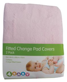 4Baby Change Pad Cover 2pk Pink