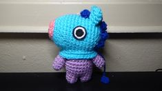 Mang is such a cute character? I loved crocheting him so much ^^ There is a part where I crochet between stitches which is sort of advanced, so an alternative option is to chain slip stitch to make a ring Crochet Pouf, Love Crochet, Learn To Crochet, Single Crochet, Tutorial Amigurumi, Amigurumi Patterns, Knitting Patterns, Crochet Patterns, I Love This Yarn