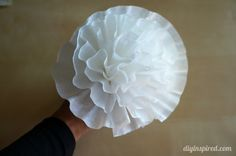 Easy Coffee Filter Paper Flowers   i thought everyone knew how to make these!  we used wire with green floral tape for the stems...can also attach to pens...on the top for a floral bouquet for a business or your home!  the pens don't end up in someone's purse by accident!  they don't fit!!!! :)