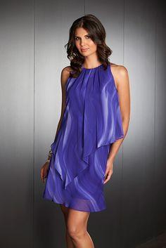 Mr K Chiffon Overlay Dress (#K6816). #lechateaucollection