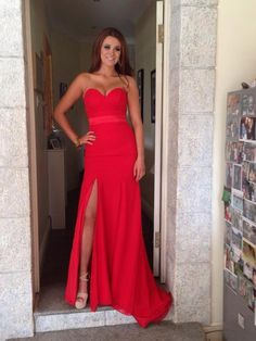 1000+ images about Red dress on Pinterest | Red prom dresses, Red ...
