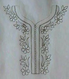 Hand Embroidery Design Patterns, Cutwork Embroidery, Embroidery Flowers Pattern, Hand Embroidery Stitches, Embroidery Fashion, Fabric Paint Shirt, Hand Sewing Projects, Hand Painted Fabric, Crochet Triangle
