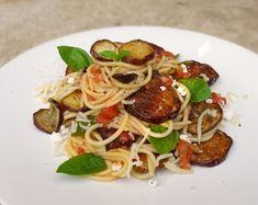 ιστορικά σπαγγέτι: pasta alla norma - Non plus ultra Non Plus Ultra, Food Styling, Spaghetti, Pizza, Snacks, Dinner, Cooking, Breakfast