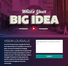Forest Giant, Inc // Vision Louisville // City of Louisville // Designers: Bryan Patrick Todd, J. Jon Shaw