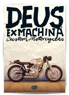 Deus Customs #motorcycles #design #illustration | caferacerpasion.com