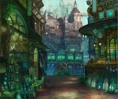 Nice fantasy town by 六七質