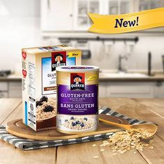 Quaker introduces gluten free quick oats and gluten free instant oatmeal