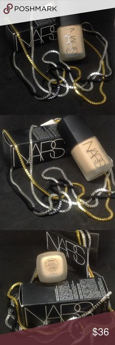 🎀NIB NARS SHEER MATTE FOUNDATION IN SANTA FE🎀 🎀NIB NARS SHEER MATTE FOUNDATION IN MEDIUM2 SANTA FE🎀 JUST BOUGHT ON ANOTHER SITE BECAUSE I HAVE BEDN WANTING THIS FOREVER BUT THE SECOND I OPENED THE BOX AND SAW THE COLOR I WAS SO BUMMED BECAUSE IT'S TO LIGHT FOR ME. SO IM JUST LOOKING TO TRY TO MAKE MY MONEY BACK! NARS Makeup Foundation