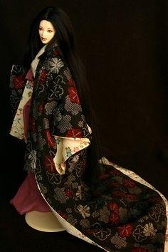 Heian kimono for 16 inch dolls