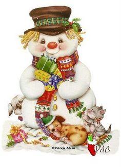 Super Ideas For Diy Christmas Cards Snowman Snow Christmas Decoupage, Christmas Scenes, Christmas Clipart, Vintage Christmas Cards, Christmas Greeting Cards, Christmas Pictures, Christmas Snowman, Christmas Greetings, Winter Christmas