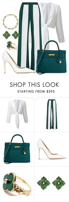 """Untitled #1006"" by swexttly ❤ liked on Polyvore featuring Monse, Hermès, Gianvito Rossi, Van Cleef & Arpels, Piranesi and Gucci"