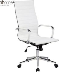 1home cosmo white leather back office gaming executive computer desk chair amazonco cheap office chairs amazon